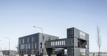 組み立ても解体も簡単、シッピングコンテナを構造体にしたオフィス「Made to be Moved」