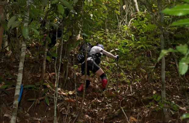 起伏に富んでいるジャングル。厳しい急勾配に毎日ヘトヘトでした。