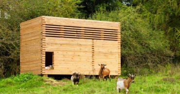 山羊だって豊かに暮らしたい、庭で暮らす小さな小屋の仲間たち「Ziegenstall」