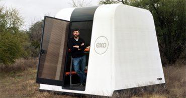 24時間で組み立て可能な避難シェルター、命を救うコーヒーカップ「EXO」