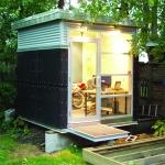 仕事ハカドル、裏庭の小さなオフィス「Manhut」