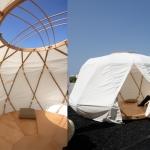 竹製フレームで組立て簡単、本当にリラックスできる可愛いゲル「Nomad Yurt 」