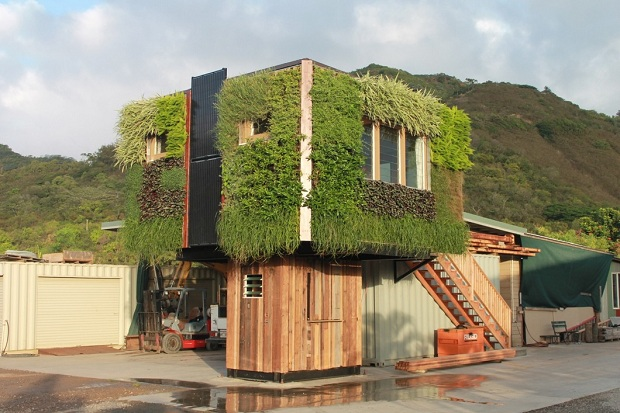 もさもさと草が生える、木のようなタイニーハウス「Elevate」