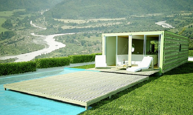 Via: infiniski.com Infiniskiが提案するコンテナハウスを使った住居プラン、Loft 60。8週間で建設が可能だ。