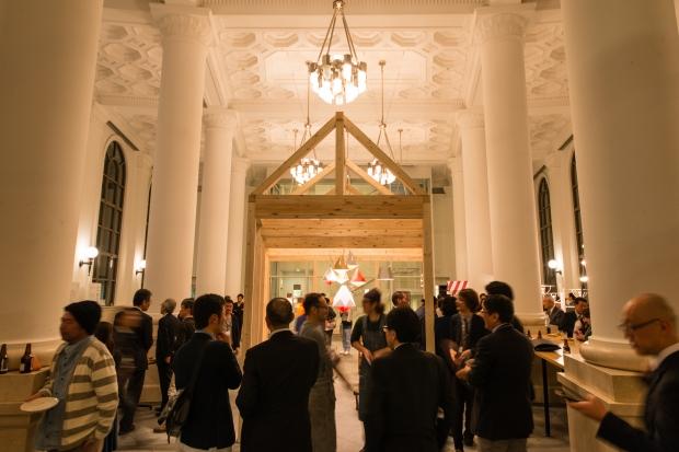 交流会:100名を超える企業・クリエーターにご参加頂き、杯を交わしながら新たなビジネス機会・出会いの場となった photo by Toshiyuki Udagwa