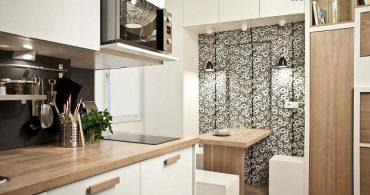 18㎡を有効活用、壁から家具が飛び出す部屋「Duhesme」