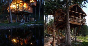 知識も技術もゼロからスタート、4年以上かけて完成させたツリーハウス「Outa the Woods」