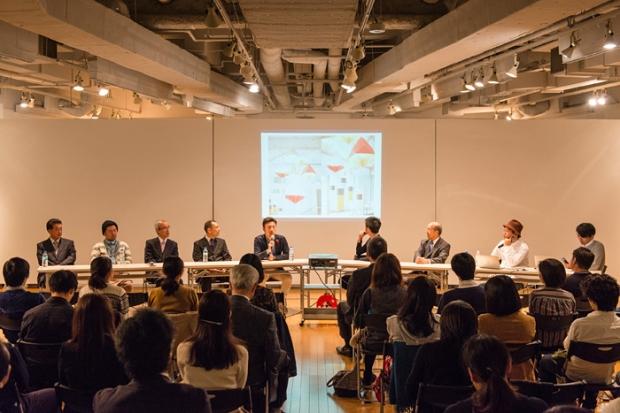 トークイベント:作品展示を行った7社の企業・クリエーターの代表者が登壇 photo by Toshiyuki Udagawa