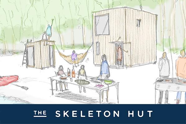 【YADOKARI第2弾!】好きなライフスタイルをインストールできる小屋 「THE SKELETON HUT」誕生。特別価格でモニター大募集!