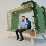 1台でソファ・ベッド・ラティスの3役をこなす、癒しの空間を生み出せる家具「NIDO」