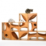 組み合わせは自由自在、彫刻のようなキャットタワー「CATable2.0」