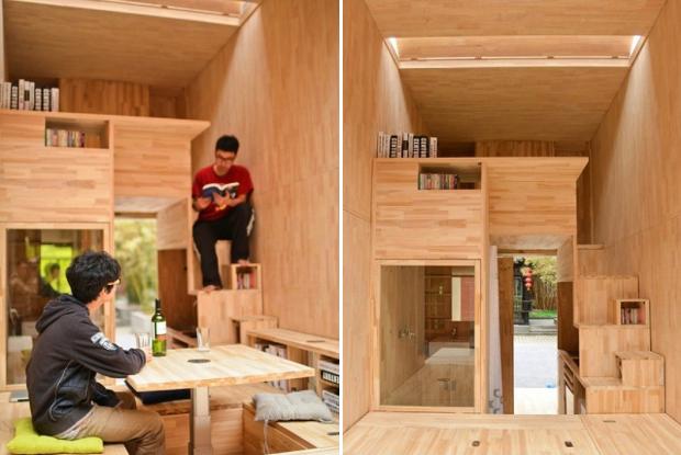 生活に必要な機能を7㎡につめこんだら?中国の学生が作ったスーパータイニーハウス