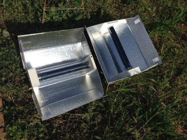 具材を真空管に入れて太陽光に当てておくだけでガスを使わず調理ができるソーラークッカー