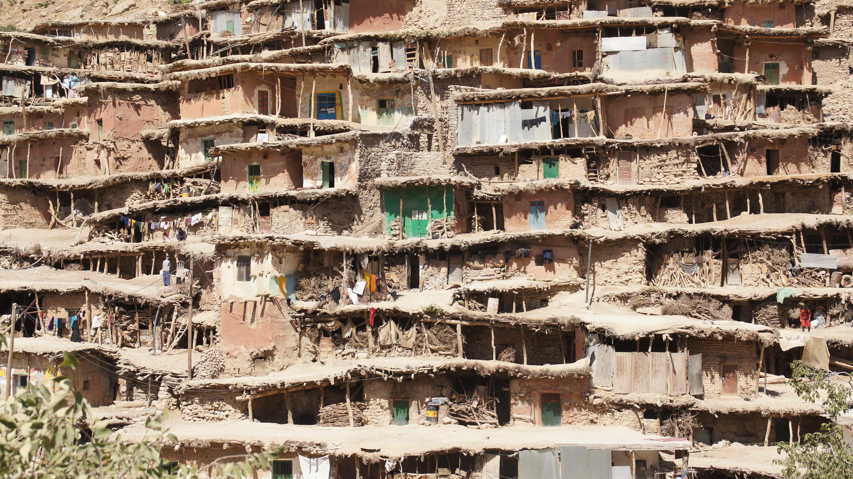 取材で訪れたイランのサル・アガ・セイエド村(『よく晴れた日にイランへ』より)