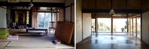 改装前は左奥に仏壇。改装後は大きな窓を入れて、風景を楽しめるようになりました。