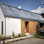 欧州スロバキアの環境にやさしいウッドブロックの家「WOODEN BRICK HOUSE」