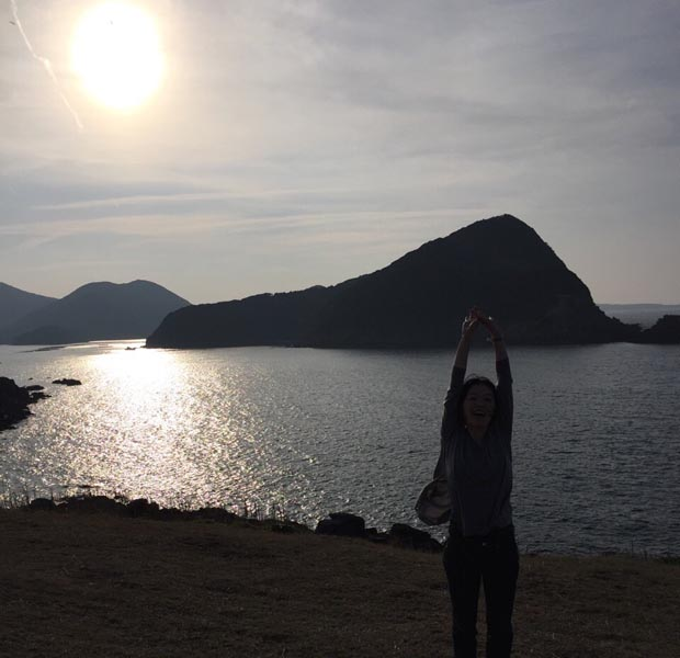 島に来たーとテンションがあがる景色。夕暮れの福江島魚ヶ崎公園。