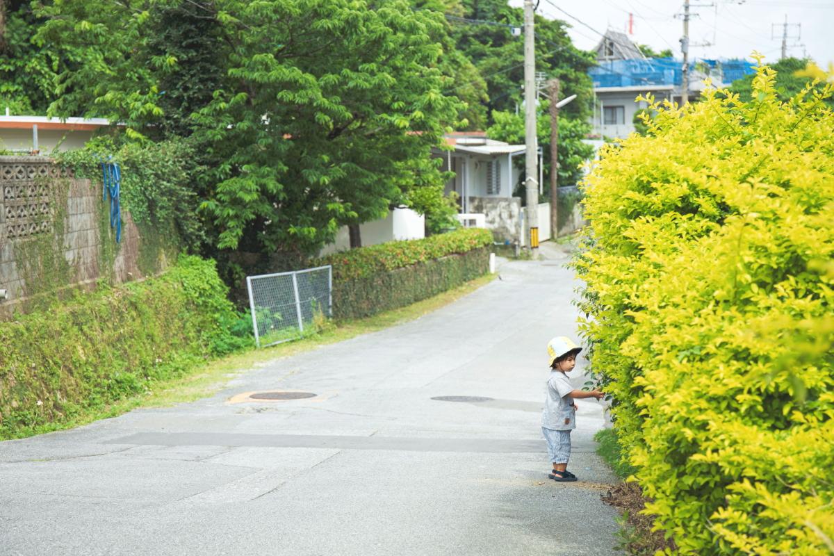 沖縄に移住したセソコさんの現在のご自宅の周辺