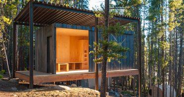 学生が3週間で作ったキャビン群「Colorado Outward Bound Micro Cabins」