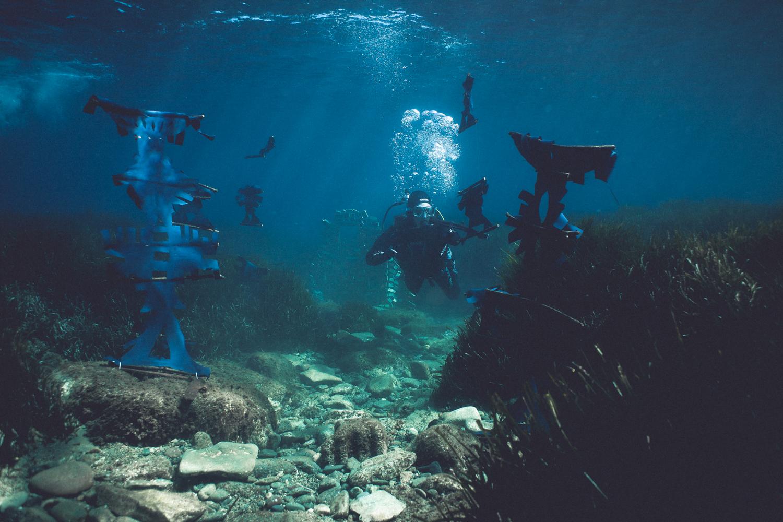 フォーレーン6スタジオの海中インスタレーション