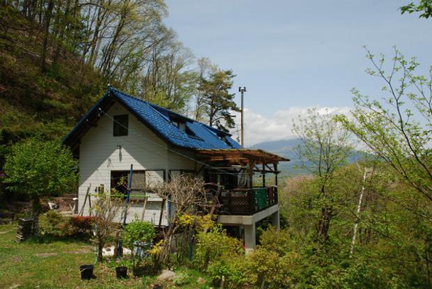 デッキに暮らしたい・軽井沢町・浅間山ビュー