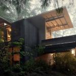 人気建築家のドリームハウスは森の中「Longbranch Cabin」