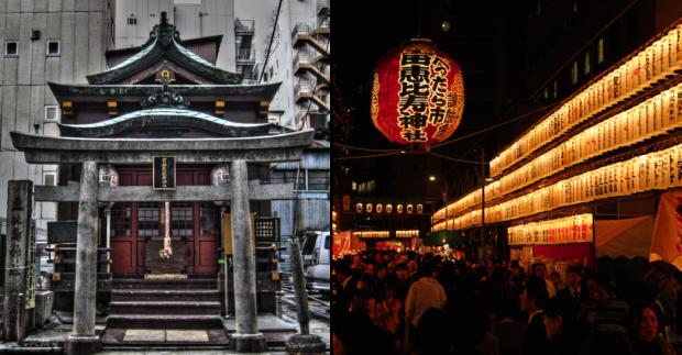 宝田恵比寿神社・べったら市風景