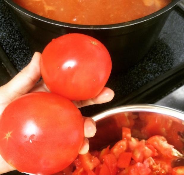 娘夫婦がつくったトマトで、トマトソース、ケチャップ、スープなどを作りました。とても美味しかったです。