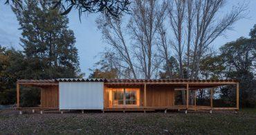 環境にやさしいホリデーハウス。理にかなったシンプルな木の家