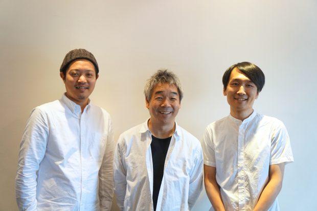 インタビューは奥沢にあるD&DEPARTMENT TOKYOにて行われた 。中央がナガオカケンメイさん。右がウエスギセイタ、左がさわだいっせい(YADOKARI)。