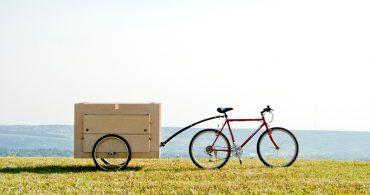 箱を広げるとピクニックテーブルに早変わり!自転車で持ち運べる「Bike Trailer」