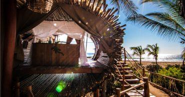 竹で覆われた極上のツリーハウスホテル「playa viva sustainable boutique hotel」