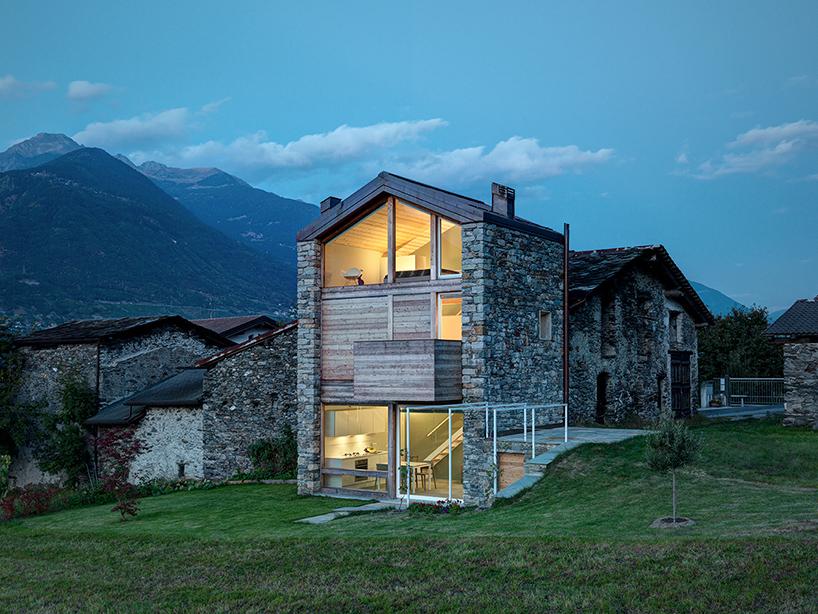 伝統を継承しつつリノベーション。アルプスの見える北イタリアの家