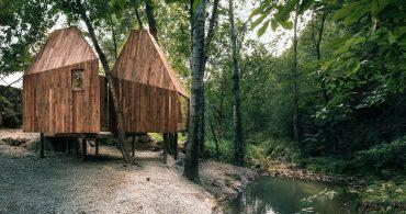 双子みたいに可愛い。森と清流に囲まれた中国の「Tree House」