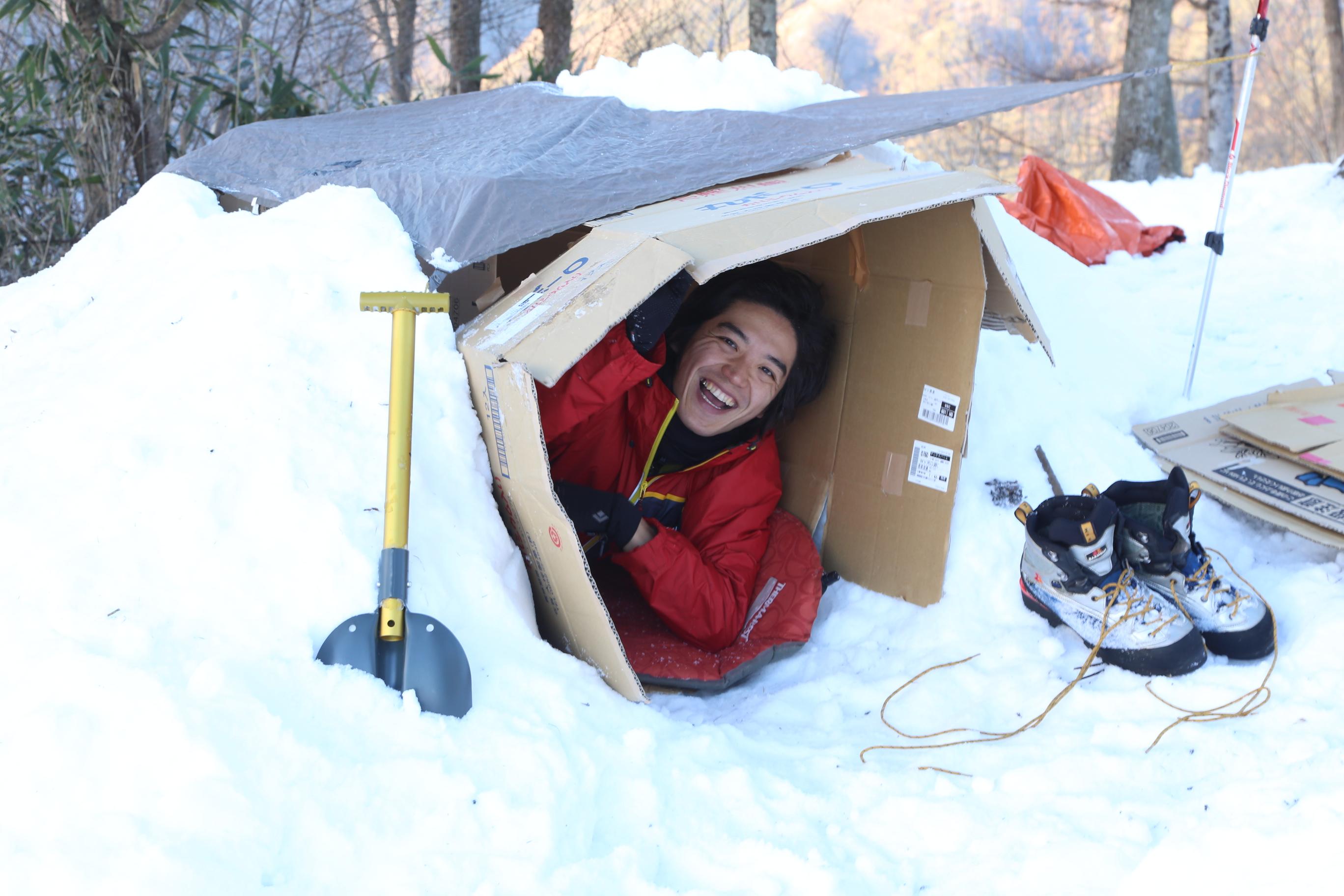 第10回:-20℃もOK!雪上ダンボールハウス|元新聞記者の、非日常生活。