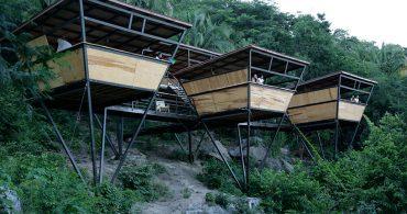 斜面に生えるスモールハウスは4週間で完成!? メキシコにあるリゾートホテル