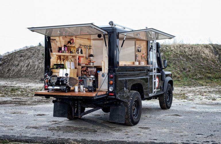 小商いのインスピレーション。ランドローバーのコーヒースタンドに憧れる