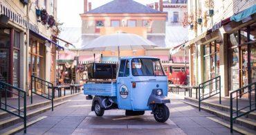 イタリアン・デザインが人を陽気にさせる。Urbana Cafeの三輪自動車でエスプレッソ
