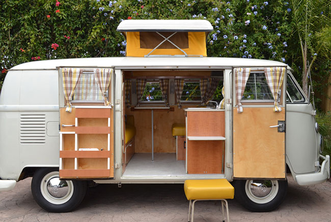レトロでかわいいワーゲンバスで、楽しむ・暮らす・旅をする!