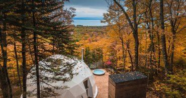 ケベックの森に潜む。3つのドームハウス「dômes charlevoix」
