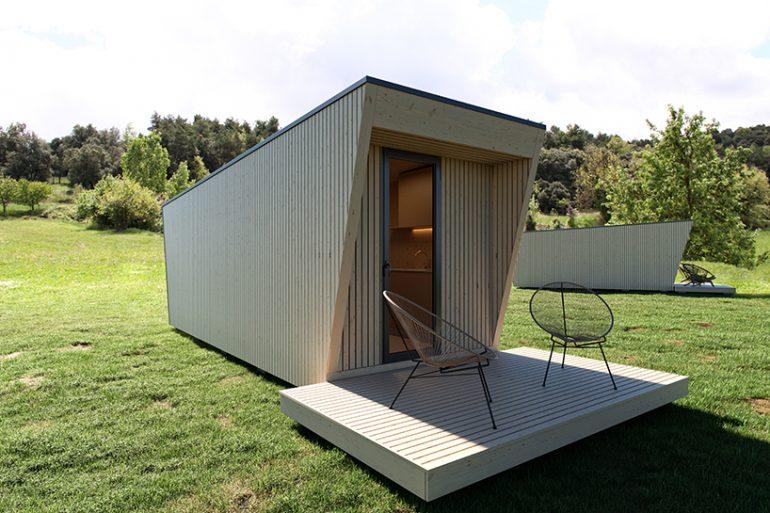 モジュラー型ボックスホテル「DROP box」