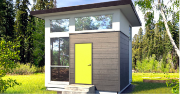 ネットで注文、セルフ組み立てハウス「The Cube」