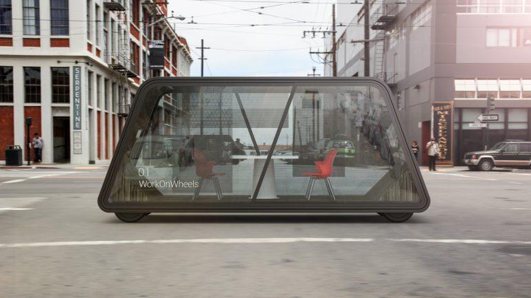 IDEOが考える未来の自動運転オフィス「Work on Wheels」
