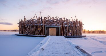 雪に浮かぶスウェーデンのホテル「Arctic Bath」