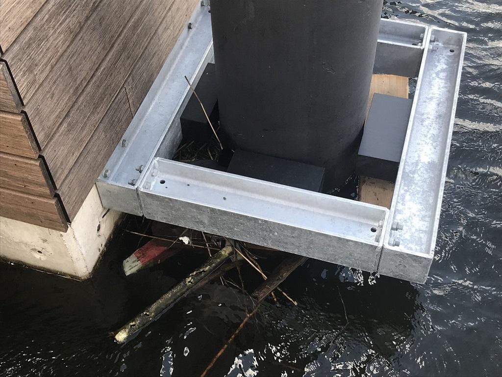 杭で家の漂流を防止