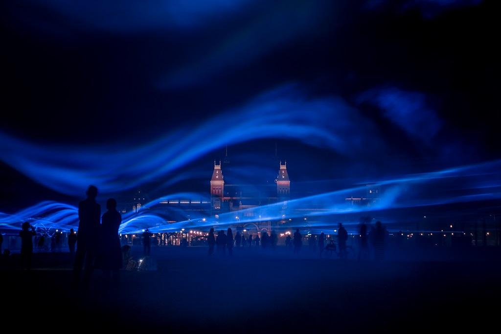 「Waterlicht」のインスタレーション